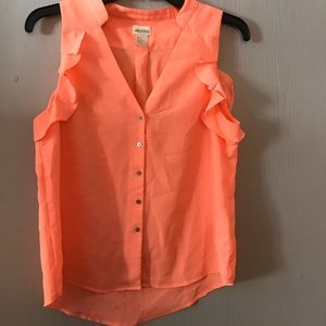 Neon orange blouse